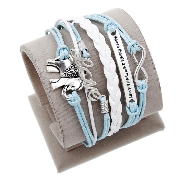 Women Vintage Juegos Del Hambre Bird Owl Anchor Bracelets Wrap Leather Bracelet Charm bracelets pulseira couro bracelets
