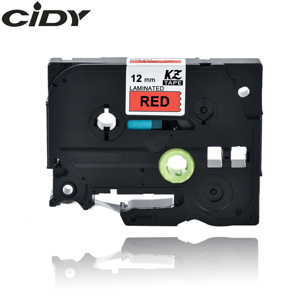 CIDY TZ431 TZ 431 TZe431 TZe 431 Laminated Strong Adhesive Tz-431 Tze-431 Label Tape P Touch Black On Red Compatible For Brother