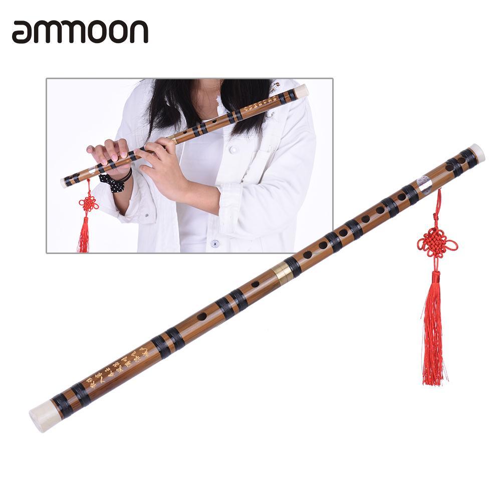 Flûte de bambou verticale chinoise traditionnelle faite à la main avec précision Instrument de musique en bois chromatique