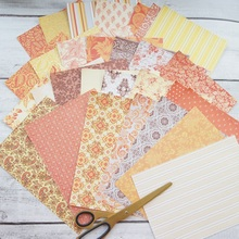30 sheets/lot  DIY elegant yellow orange flower pattern wrapping paper creative craft handmade scrapbooking decoration