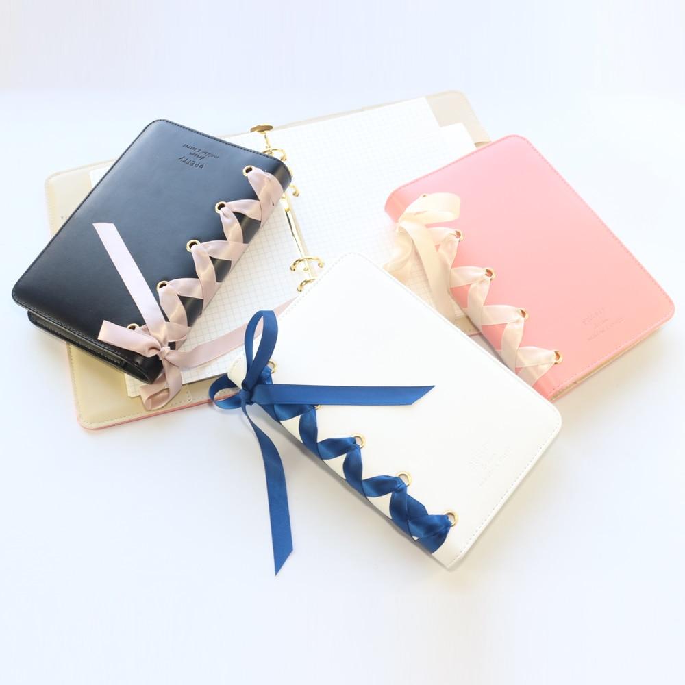 Domikee Cute Office School Spiral Notebooks Journals Stationery,kawaii Person Binder Weekly Planner Agenda Organizer Gift,A5A6
