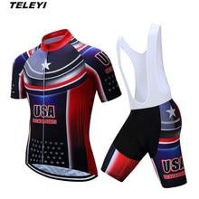 Ee.uu. negro rojo ropa deportiva bicicleta Ciclismo Jersey BiB Pantalones  cortos Sets hombres bicicleta ropa maillot ropa ciclis. 58b0f330f383