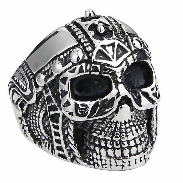 Holibanna Anillo de Calavera de Az/úcar Anillo de Dedo Esqueleto Anillos para Hombre Punk Biker Joyer/ía de Mano de Acero Inoxidable para Vestir Accesorios de Fiesta de Disfraces Regalo del 10