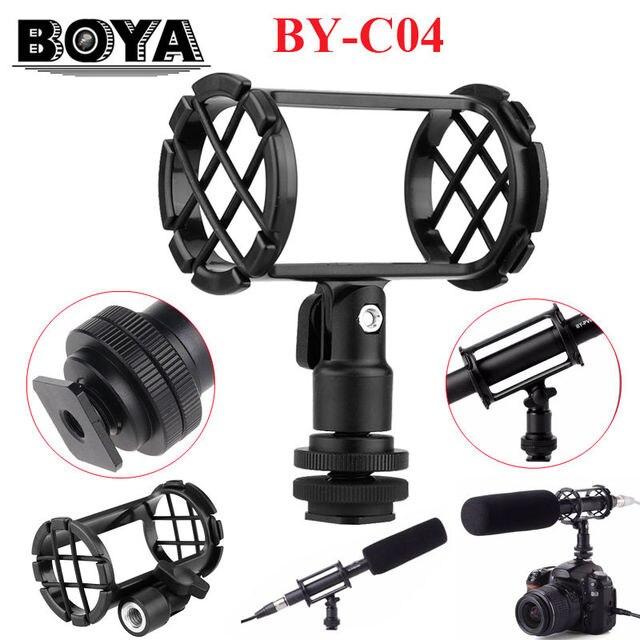 BOYA BY-C04 Видеокамеры Крепление Амортизатора для RODE NT4 BOYA BY-PM1000 Shotgun Микрофоны 19-25 мм в Диаметре