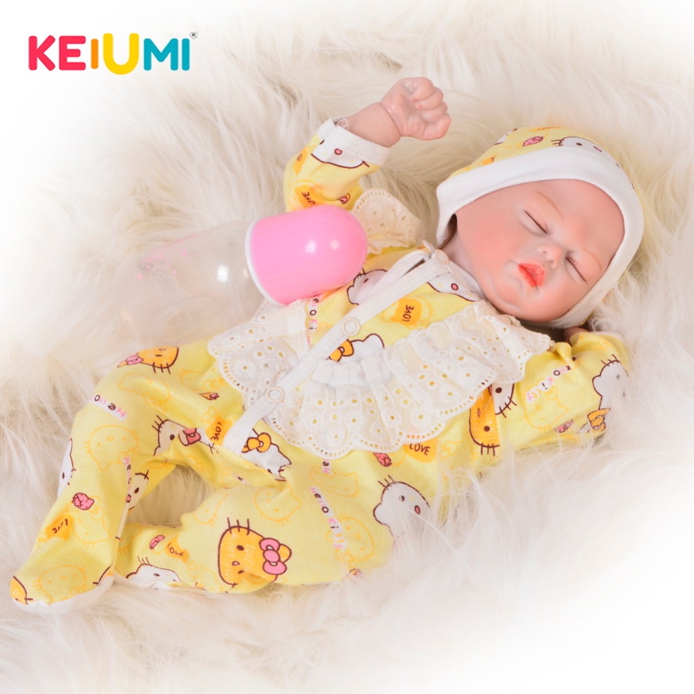 Real Touch 17'' Reborn Dolls Soft Silicone Vinyl 42 cm Fashion Girl Princess Doll Lifelike Sleeping Baby Doll For Kid Xmas Gifts fashion 40 cm american girl dolls soft vinyl princess doll lifelike silicone reborn baby dolls cheap birthday gifts for children