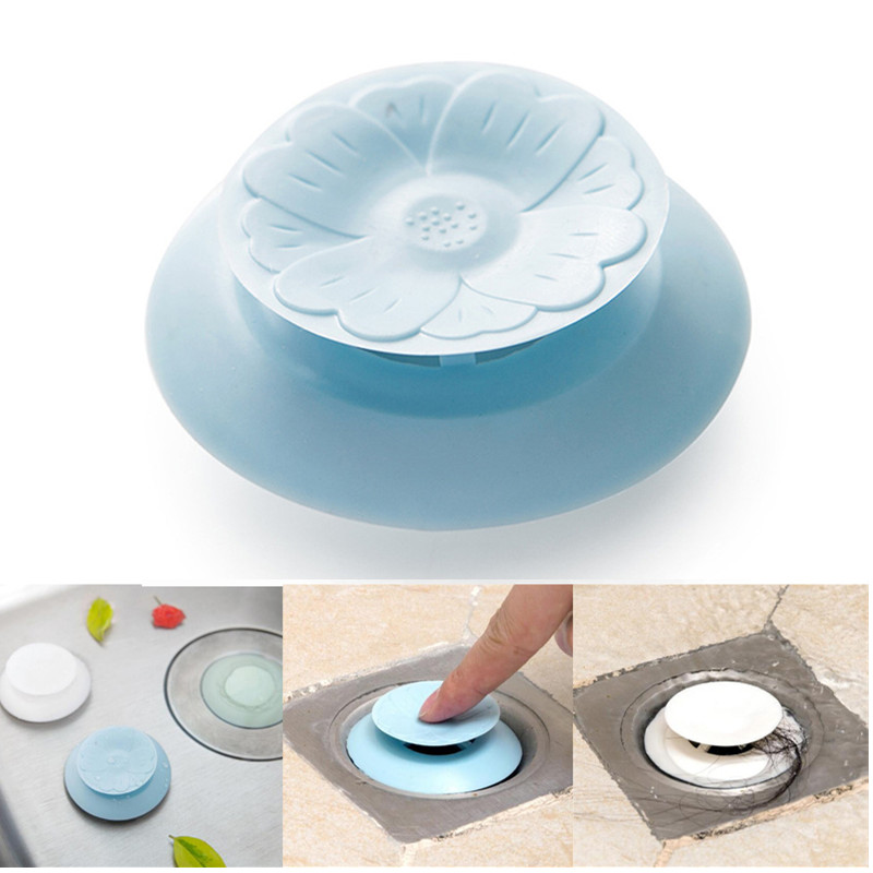 Rubber Silicone Sink Filter Water Stopper Floor Drain Hair Catcher Bathtub Plug Bathroom Kitchen Basin Stopper Dropshipping все цены