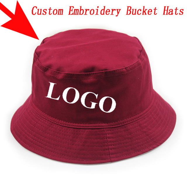 Custom Personalized Embroidery Bucket Hat Men Women Outdoors Sports Fashion  Casual Cotton Gorras Hats Free Shipping ecce0255db1