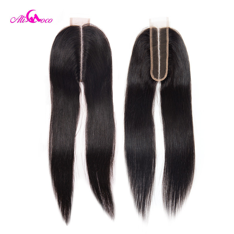 Image 3 - Ali Coco Brazilian Straight 2*6 Lace Closure Human Hair Lace Closure  Middle Part 8 20 Inch Natural Color Remy Hair-in Closures from Hair Extensions & Wigs