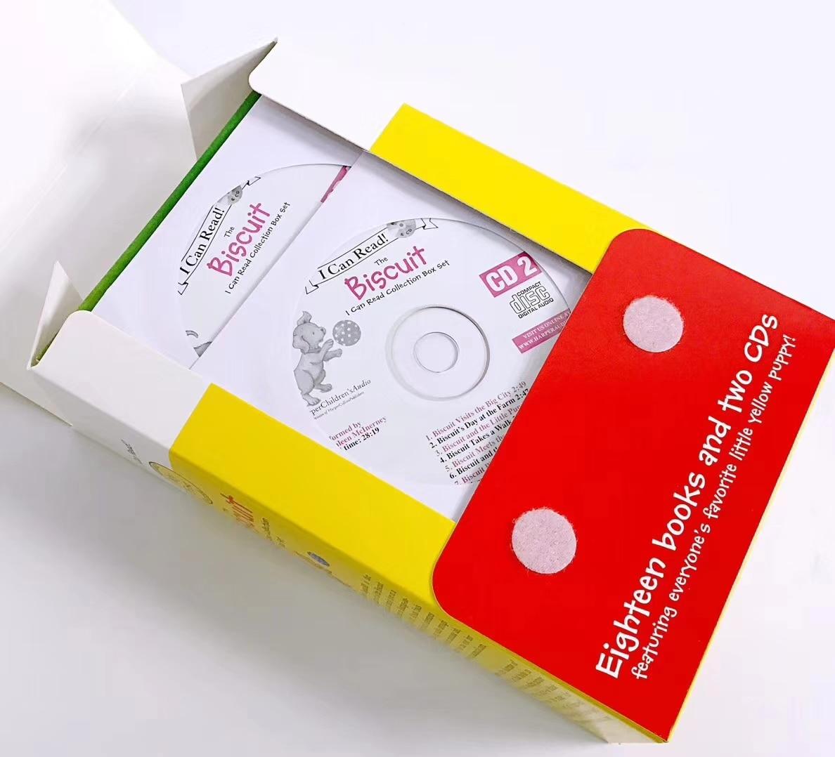 18 livres/Set + 2 pièces CD Biscuit Série D'images Anglais Livres Enfants Je Peux Lire Histoire Livre de Lecture Educaction pour Enfants Montessori - 2