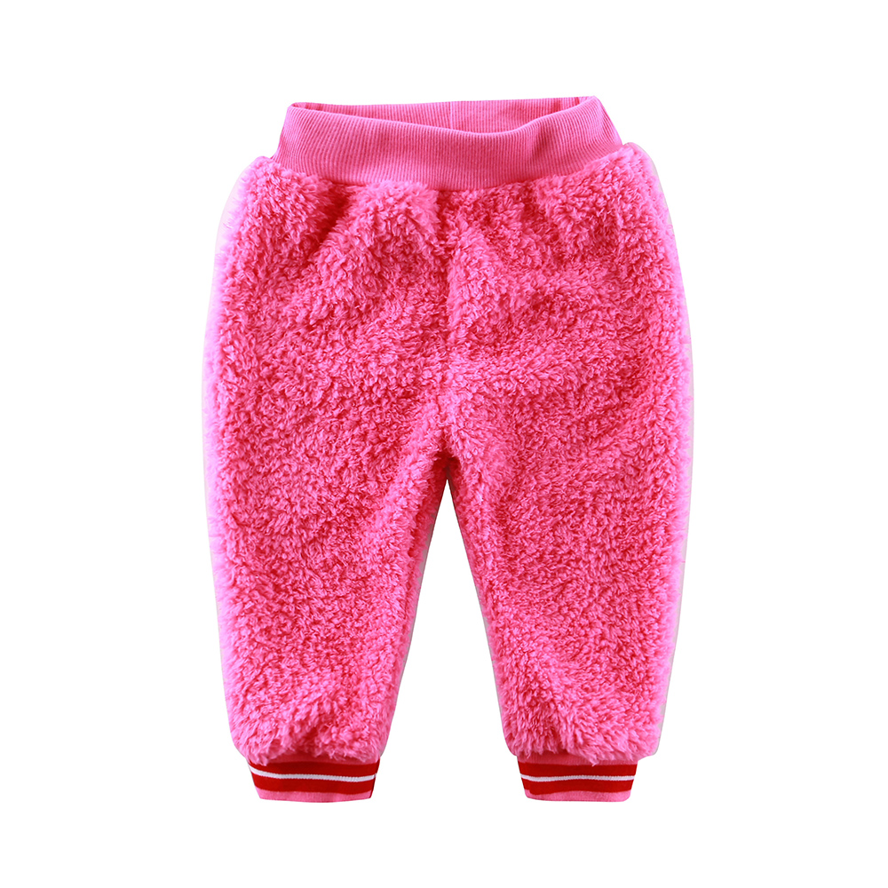 Baby Coral Fleece Long Pants Newborn Warm Clothes Autumn And Winter Boys And Girls Trousers Christmas