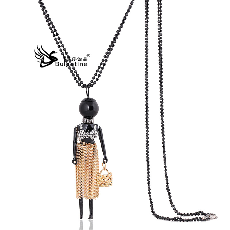 new doll necklace Korean long paragraph sweater chain