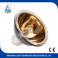 Gold 24V 250W GZ6.35 JCR MR16 halogen bulb endoscopy 24v 250w halogen lamp free shipping 10pcs