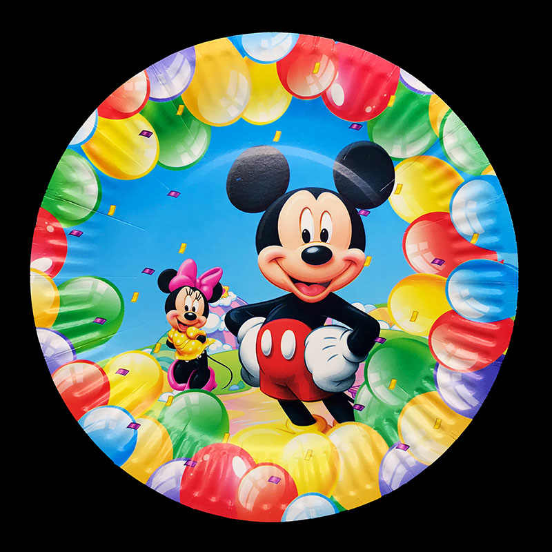 10 Pcs/lot Mickey Mouse Pakai Piring Mickey Mouse Tema Pesta Ulang Tahun Mickey Piring Baby Shower Perlengkapan Pesta