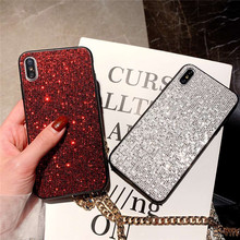 Luxury Phone Case For iPhone 7 Shiny Bling Glitter X 8 6 6s Plus XS MAX XR Coque 3D Diamond Hard Cover
