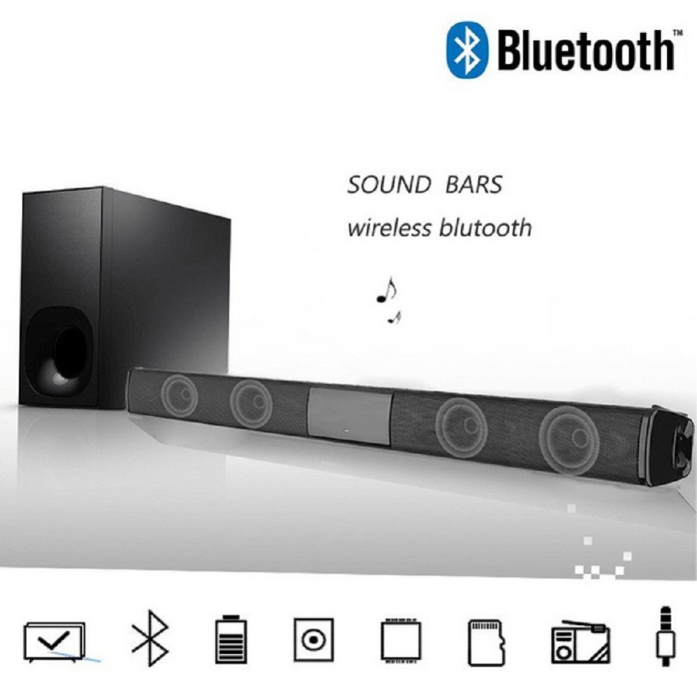 20W TV Speaker Wireless Bluetooth Speaker Portable Column soundbar home theater with FM Radio for Computer TV Sound System Box