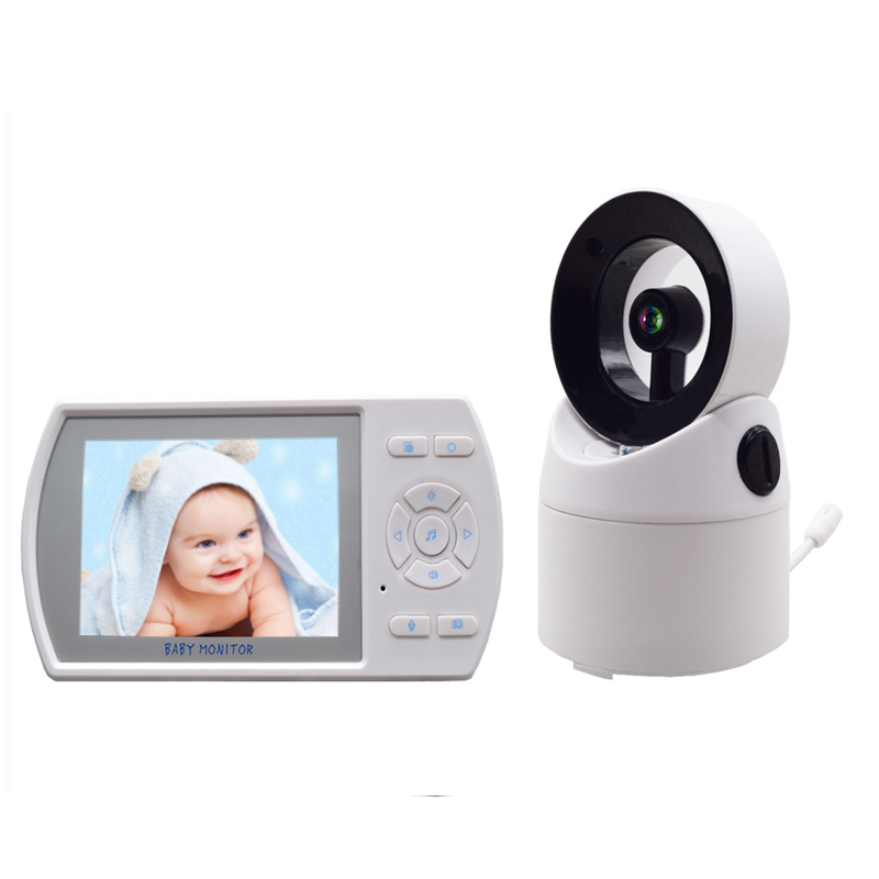 2.4G wireless 3.5 Inches color LCD big screen 2 way Audio talk Surveillance babysitter baby monitor help your baby talk