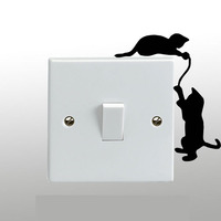Cats Playing On A Light Switch Wall Sticker Vinyl Art Decal Any Room Decor 3SS0222