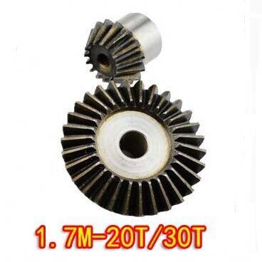 купить 1.7M-20T/30T Precision 90 Degree Cone Umbrella Bevel Gear Standard Gear по цене 1136.24 рублей