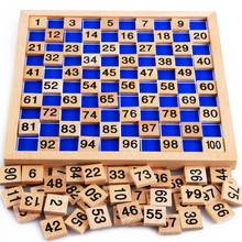 Cheapest prices 2016 New Arrival Montessori Education Wooden Toys 1-100 Digit Cognitive Math Toy Teaching Logarithm Version Kid Early Learning