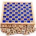 2016 Recién Llegado de La Educación Montessori Juguetes De Madera 1-100 Dígitos Cognitivo Matemáticas Enseñanza Logaritmo Versión Niño que Aprende Temprano el Juguete
