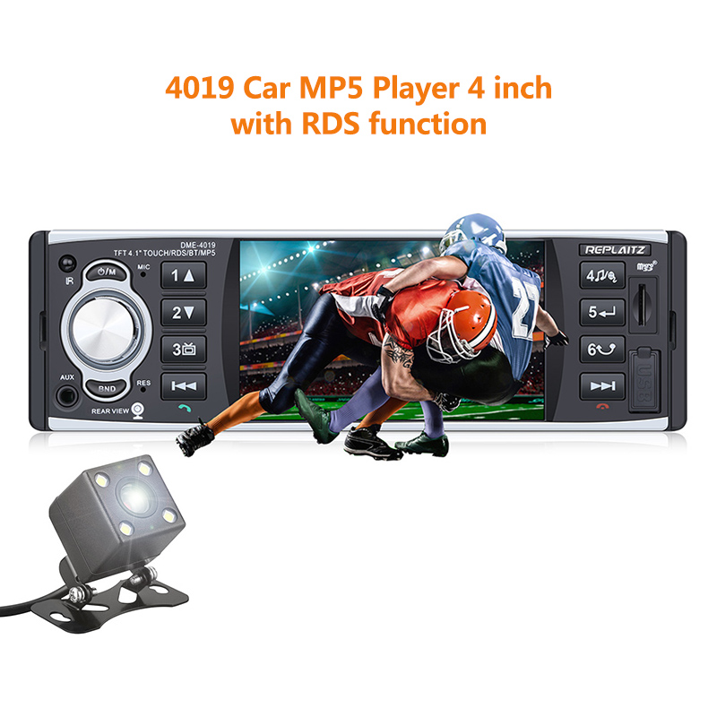 Backup Camera Remote Touch HD Blueteeth Car 1din MP5 Player Kit TFT Display