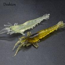 Deshion 5PCS/lot Soft Plastic Shrimp Lure Bait Artificial 9cm 3.6g Big Silicone Shrimps Luminous Pesca for Fishing