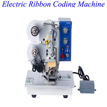 Electric Ribbon Coding Machine Automatic One-way Printing Label Date Ribbon Coder HP-241B two in one semi automatic round bottle label applicator with date printing machine