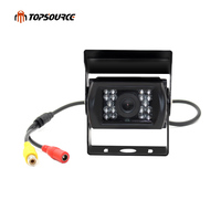 TOPSOURCE 18 IR LED Waterproof Car Rear View Camera Backup Reversing Parking Night Vision 150 Degree Wide Angle for Truck Bus