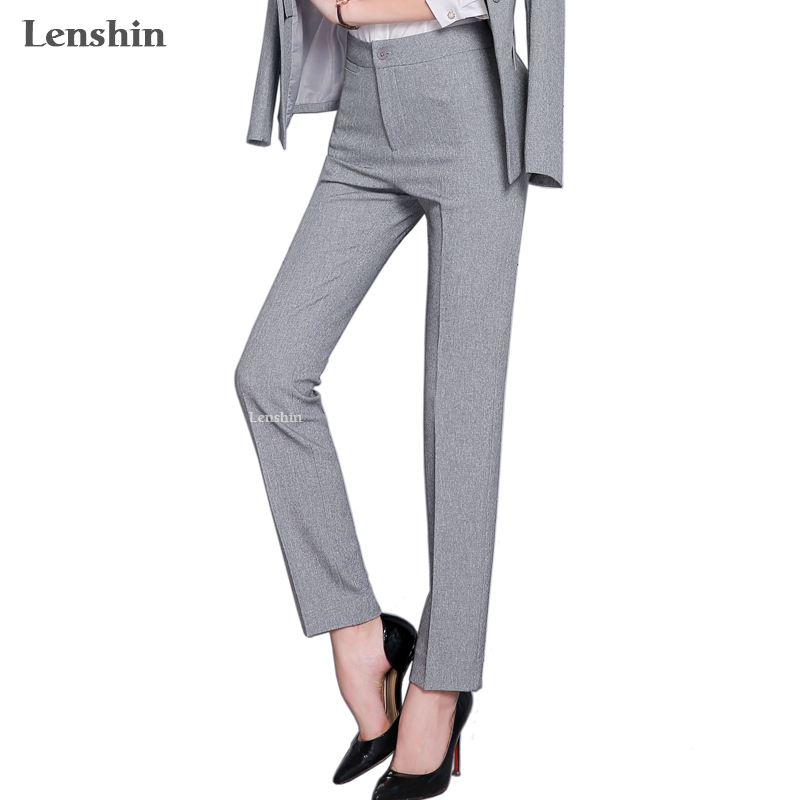Full length professional business Formal pants women trousers girls slim female work wear Office Lady career plus size clothing