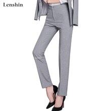 Full length professional business Formal pants women trousers girls slim female work wear office career plus size clothing