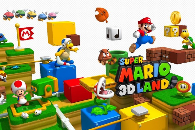 Cartoon Super Mario 3D Land Game Poster Fabric Silk Colourful