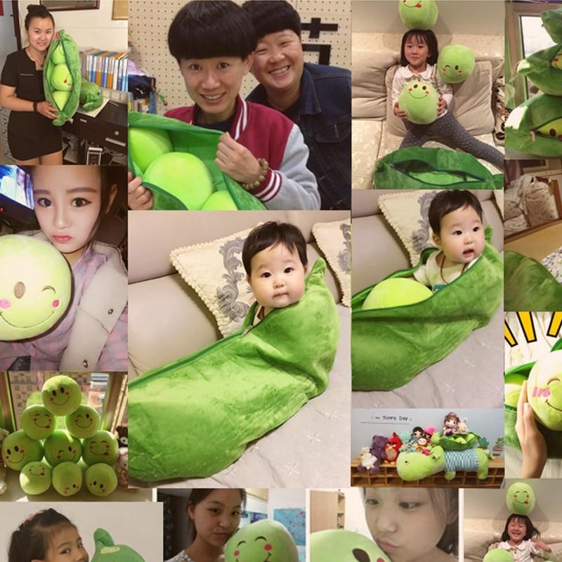 დიდი ბარდა Plush ბალიში Super Cute Peas - პლუშები სათამაშოები - ფოტო 2