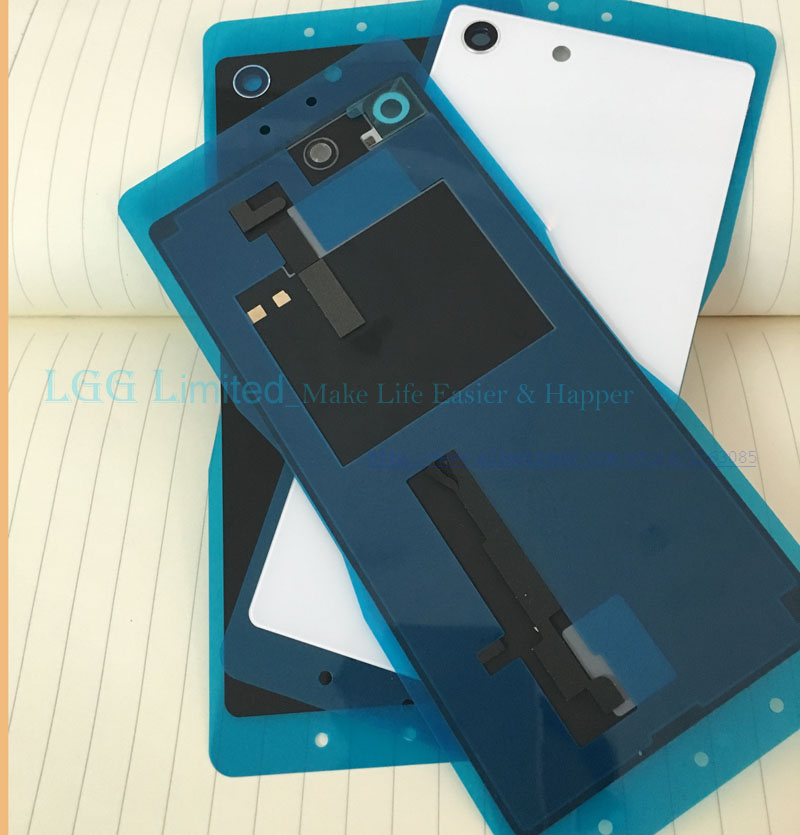 New Housing Glass Back Cover for Sony Xperia M5 Battery Cover with NFC for Xperia M5 Dual E5603 E5633 battery Cover Housing Door