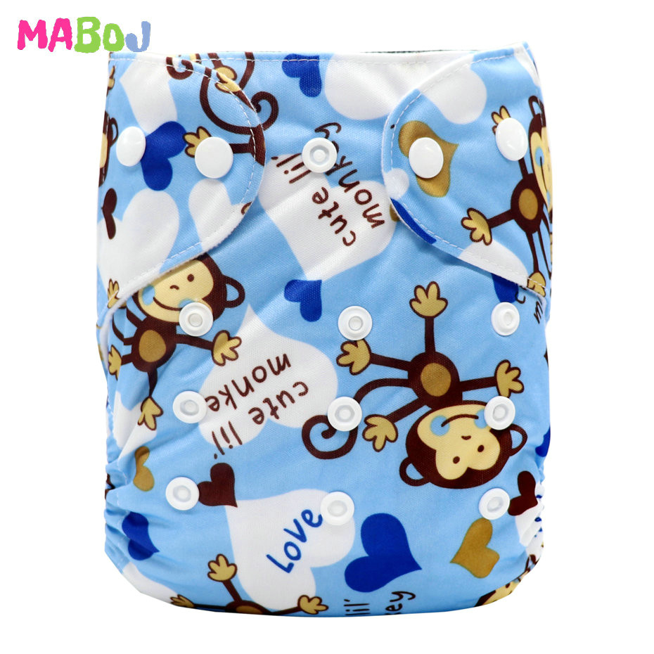 MABOJ Diaper Baby Pocket Diaper Washable Cloth Diapers Reusable Nappies Cover Newborn Waterproof Girl Boy Bebe Nappy Wholesale - Цвет: PD5-5-17