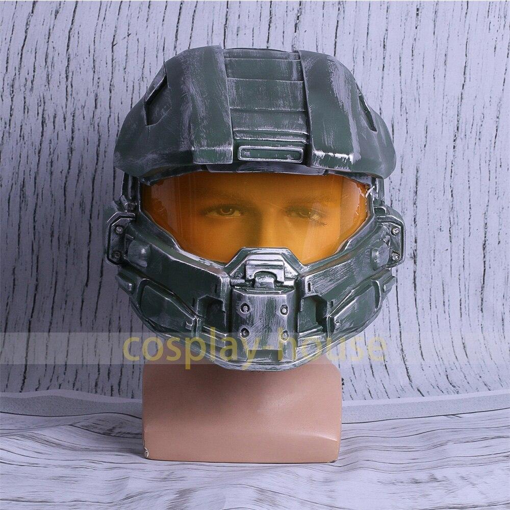 Halo 4 Helmet Prop Replica Cosplay Costume Full Head Mask PVC Equipment Master Chief Game Accessories