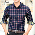 Men Shirt Brand Fashion Plaid Cotton Shirt Slim Fit Long Sleeve Camisa Masculina Men Social Shirt Chemise Homme Asian Size Z2566