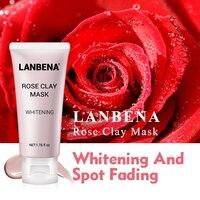 Rose розовая глиняная маска для лица увлажняющий, питательный, Глубокая очистка удаляет жир усажает поры масло контролируя подтяжка кожи ухо...