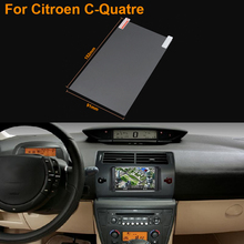 Car Styling 7 Inch GPS Navigation Screen Steel Protective Film For Citroen C-Quatre Control of LCD Screen Car Sticker