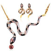 U7 Модные SnakeJewelry Наборы Для Женщин Подарок Желтый Позолоченный Кристалл Свадебный Rhinestone Ожерелье Серьги Устанавливает Оптовую S637