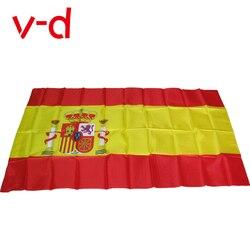 Xvggdg bandeira de espanha, frete grátis 90x150cm, 3x5 pés, super poly, bandeira de futebol, interior, exterior, poliéster bandeira bandeira