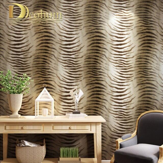 Einfache Moderne Tapete Design Tiger Haut Muster Tapete Fur