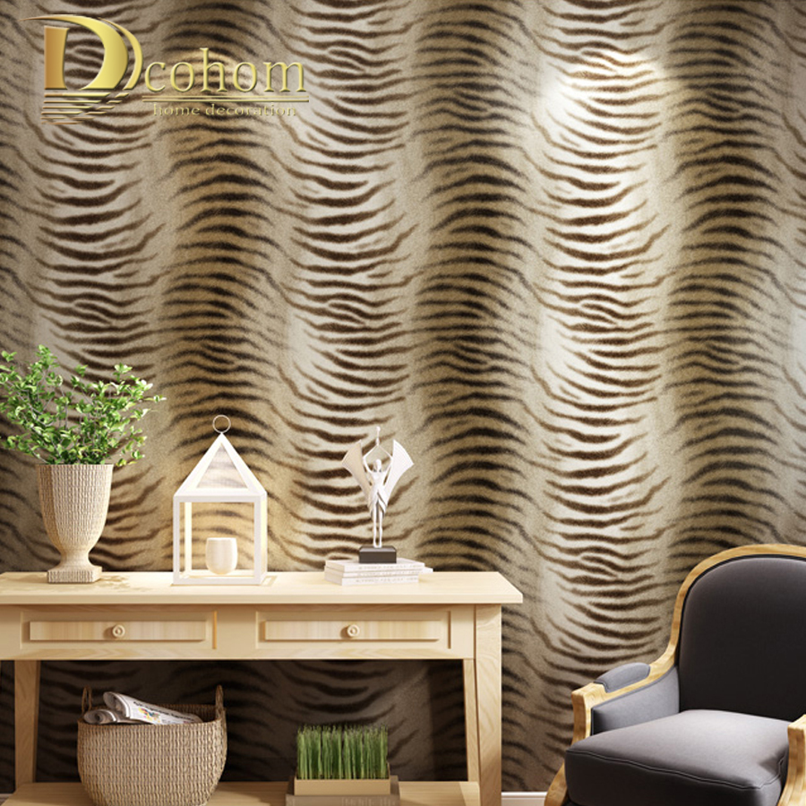 Simple Modern Wallpaper Design Tiger Skin Pattern Wallpaper For Bedroom Living Room Sofa TV Background Decor Wall Paper Rolls simple striped lines modern wall papers home decor wallpaper for living room bedroom tv sofa background wallpaper for walls 3 d
