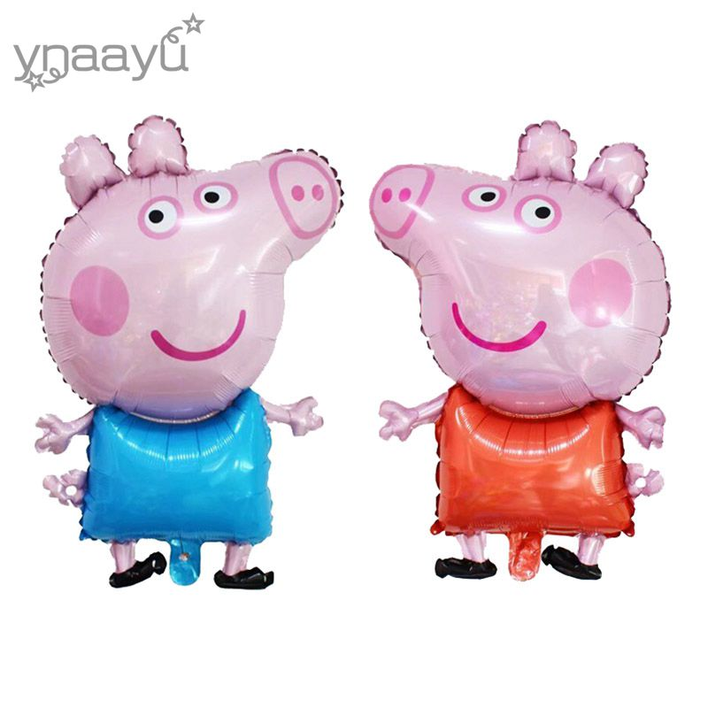 Ynaayu 1pcs Little Peppa Pig Foil Balloons Cute Pig Toy George Ballon Children s Air Balloons Party Birthday Decoration