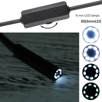 New Arrival WIFI Endoscope Camera 8mm Lens Waterproof 8 LED Lamps Adjustment Lights 1 / 1.5 / 2 / 3.5 / 5 / 10M cable length