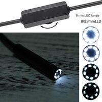 New Arrival WIFI Endoscope Camera 8mm Lens Waterproof 8 LED Lamps Adjustment Lights 1 1 5