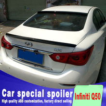 New design style spoiler 2014 2015 2016 for Infiniti Q50  Q50S by primer or balck white paint color high quality ABS