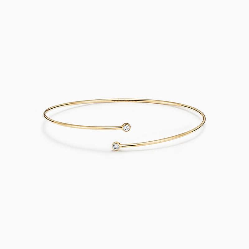 """SHINETUNG, оригинальный браслет под """"Тиффани"""", Стерлинговое Серебро, 925, высококачественный браслет с подвесками, обруч, Однорядный женский оригинальный браслет"""