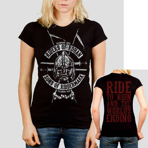 79d60a67 Riders of Rohan Tolkien T shirt women Lord of the Rings inspired Ladies  short Tee Tops