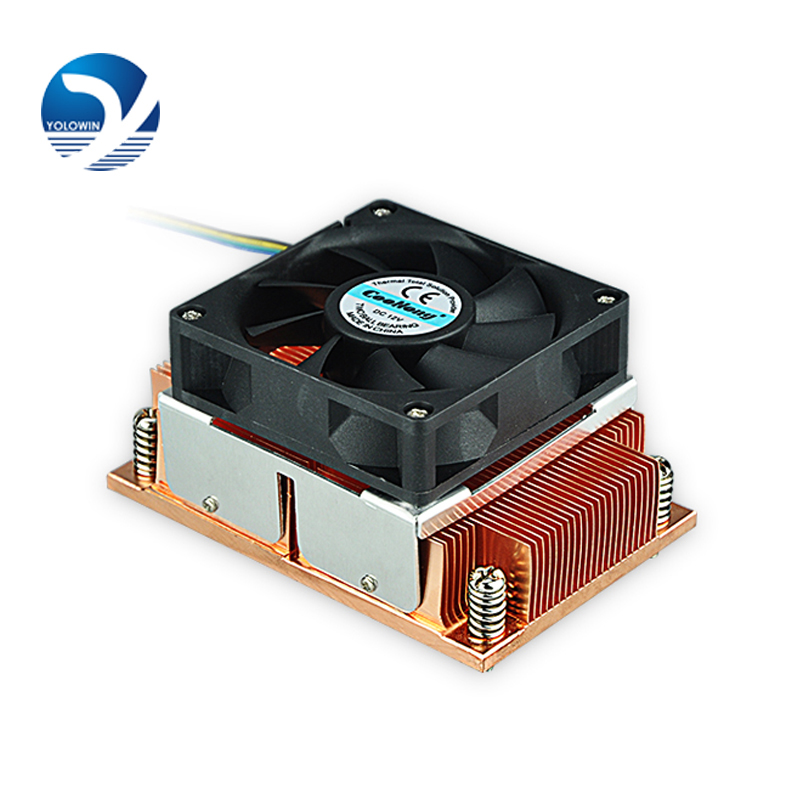 Server radiator cpu fan digital accessories Heatsink CPU cooler radiator copper worm F9-01 1u radiator for intel platform 1356 1366 needle for cpu fan heatsink copper worm gear cooling
