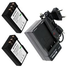 Kit de batterie Li-ion et chargeur pour appareil photo Nikon, 1800mAh, 2 pièces, EL9a, EL9a, D40, D60, D40X, D5000, D3000